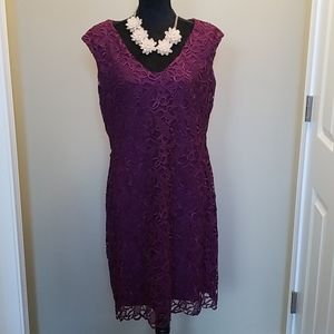 NWT gorgeous exotic ruby lace dress